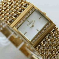 Jual Jam Tangan Wanita Guess 3 Rantai Gold Murah