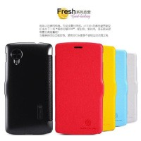 Jual NILLKIN Fresh Leather Case LG Nexus 5 - Red | Nexus5 Flip Cover Book  Murah