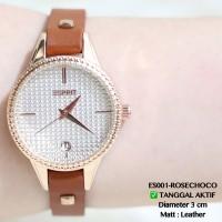 Jam tangan esprit wanita tanggal aktif leather kecil premium guess qnq