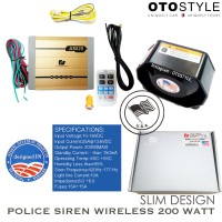 Sirine polisi / TOA original wireless (200watt) , 9 Suara
