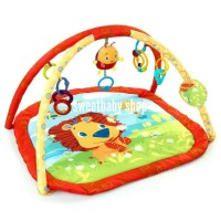 playmat bright starts lion in the park / matras bermain bayi
