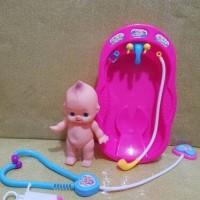mainan bayi karet plus bak mandi dan peralatan dokter