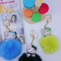 Jual Hello kitty Premium Collection Bag charm Fur Ball / pom pom / Fendi Murah