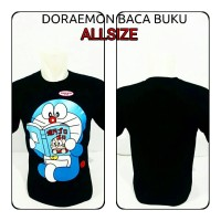 harga Kaos Oblong Doraemon Baca Komik Buku Lucu Chibi Tokopedia.com