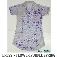 Dress BIG SIZE Flower Purple Spring || Daster Besar|| Baju Hamil
