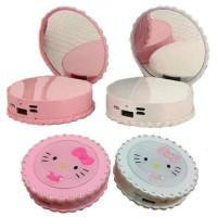 Jual Powerbank Hello Kitty Blink Dan Cermin 12.000 Mah Murah