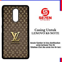 Casing LENOVO K6 NOTE Louis Vuitton Wallpaper 3 Custom Hard Case Cover