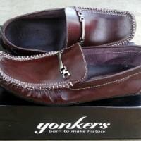 Jual sepatu slip on kulit yonkers mocasin Murah
