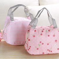 163 WEEKGHT Lunch bag cooler bag Tas bekal Bonus 2PS jelly ice