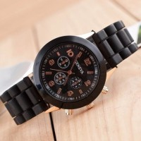 TERLARIS   Jam tangan wanita / cewek Geneva Jtr 048 black   TERMURAH