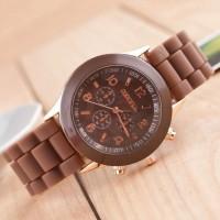 TERLARIS   Jam tangan wanita / cewek Geneva Jtr 048 coklat   TERMURAH