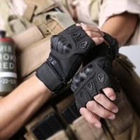 Jual Sarung Tangan Half Finger Gloves Protection Pad Army Ou Baru Murah