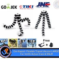 Jual Gorillapod / Flexible Tripod Ukuran LARGE For VLOG Action Cam & DSLR Murah
