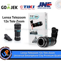 Jual Lensa Telezoom 12x Tele Zoom Universal Smartphone Clip Premium Quality Murah