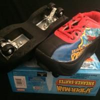 Roller shoes 4 roda (Sepatu Roda 2in1) - Spiderman