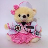 Boneka Wisuda Teddy Bear Suster Perawat Rumah Sakit Kado Unik Lucu