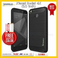 PAKET Ipaky Carbon Fiber Case Xiaomi Redmi 4X Soft Casing Redmi4x