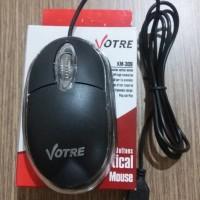 MURAH Mouse USB Komputer Laptop Kasir Indomaret Hitam LED Votre PC
