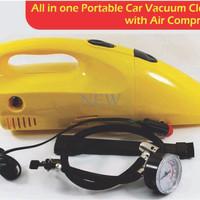 Jual 2 in 1 Tire Inflator Pump Air Compressor Portable Car Vacuum Cleaner N Murah