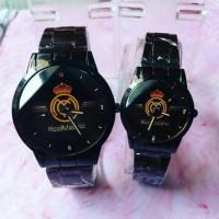 ( HARGA SEPASANG )Jam Tangan Couple Real Madrid ( Jam Custom QnQ Guess