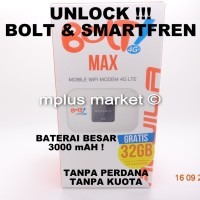 Jual Mifi Modem Mobile Wifi Bolt Smartfren 4G LTE Aquila Max UNLOCK Murah
