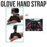 Jual braket dudukan action camera glove hand strap / action cam 360 / gopro Murah