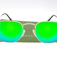 Ray Ban 3548 Hexagonal Gold Lens Green