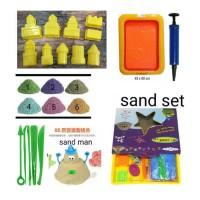 Pasir Kinetik Tray Set 1500 Gram Super Lengkap Kinetic Sand