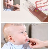 Jual Sikat Gigi Bayi Finger tooth brush sikat gigi jari bayi Limited Murah