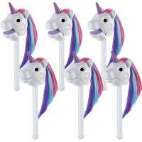 Educational Insights Rainbow Prancers Puppet Unicorn White - EI-1729B