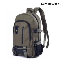 harga Unique Tas Ransel Laptop Canvas Backpack Travel Semi Army Hijau Tokopedia.com