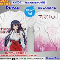 Kaos Full Print Amakano Sayuki Nekopoi [ANIME FULLPRINT]