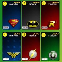 eMoney eToll Mandiri Custom Print Cetak Design Logo Superhero Superman