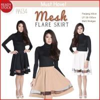 Jual Mesh Flare Skirt Rok A-Line Wanita (RK134) Murah