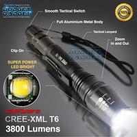 Taffware Senter LED Cree XM-L2 T6 3800 Lumens Aluminium SUPER TERANG