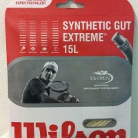 Senar raket tenis Wilson string synthetic gut extreme 15L Original