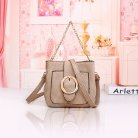 Tas Fashion Kulit Khaki Wanita Jalan Jinjing Shoulder Bag Slempang
