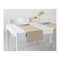 IKEA MARIT Alas/Taplak Panjang Meja Makan, 35 x 130cm, Krem