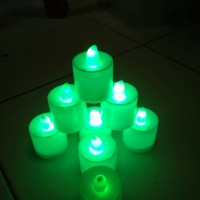 LILIN LAMPU LED WARNA HIJAU BULAT CANDLE LIGHT PARTY DINNER ROMANTIS