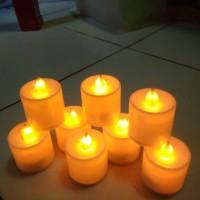 LILIN LAMPU LED WARNA KUNING BULAT CANDLE LIGHT PARTY DINNER ROMANTIS