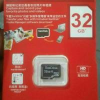 Jual MMC MICROSD CARDS SANDISK 32GB CLASS 10 KARTU MEMORI GRADE ORI 32 GB Murah