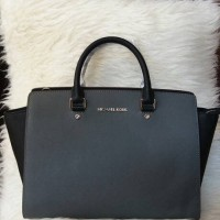 Ready Michael Kors Selma 2t Grey Black Large