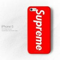 Supreme Red Wallpaper iPhone 5 - 5s - SE Custom Hard Case