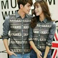 Baju grey Couple keren cocok buat pasangan bercinta, model batik