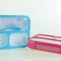 Kotak Makan Bento/lunch Box Grid Sekat 3 Yooyee Anti Bocor