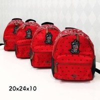Tas Ransel Coach Original / Disney Mickey Mouse Bandana Backpack Red