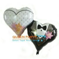 Harga balon foil wedding love balon bride and groom balon baju   antitipu.com