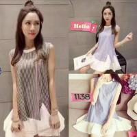 Jual Ruffle Bottom Dress Import Murah