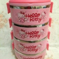 Jual Rantang 4 Susun Karakter - Lunch Box - Rantang Hello Kitty Murah
