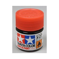 Cat Tamiya Acrylic Paint Colour X-27 Clear Red